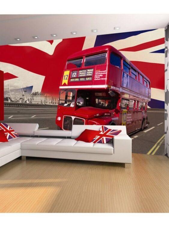 Fotomurale Bus Londra 232 x 315cm