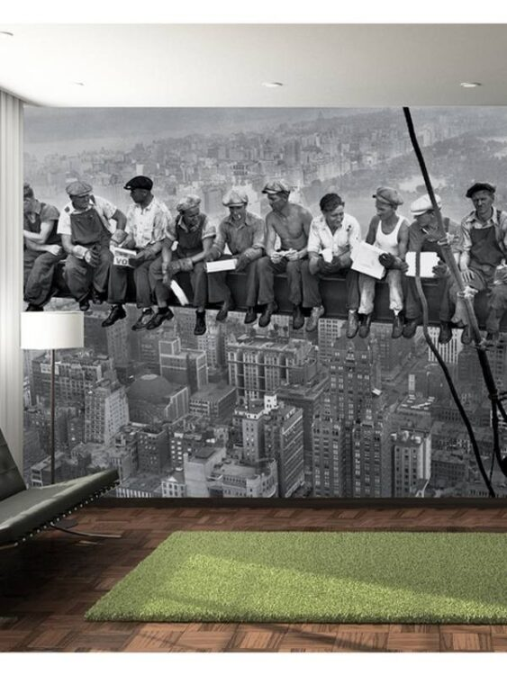 """Fotomurale """"Lunchtime atop a skyscraper"""" 232 x 315cm"""