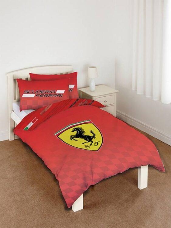 Parure copripiumino singolo reversibile Scuderia Ferrari