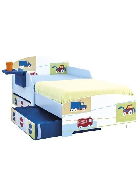 Lettino Camion e Trattori con scaffale e cassetti