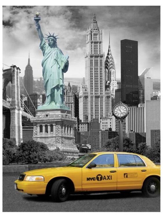 Plaid Pile New York Taxi