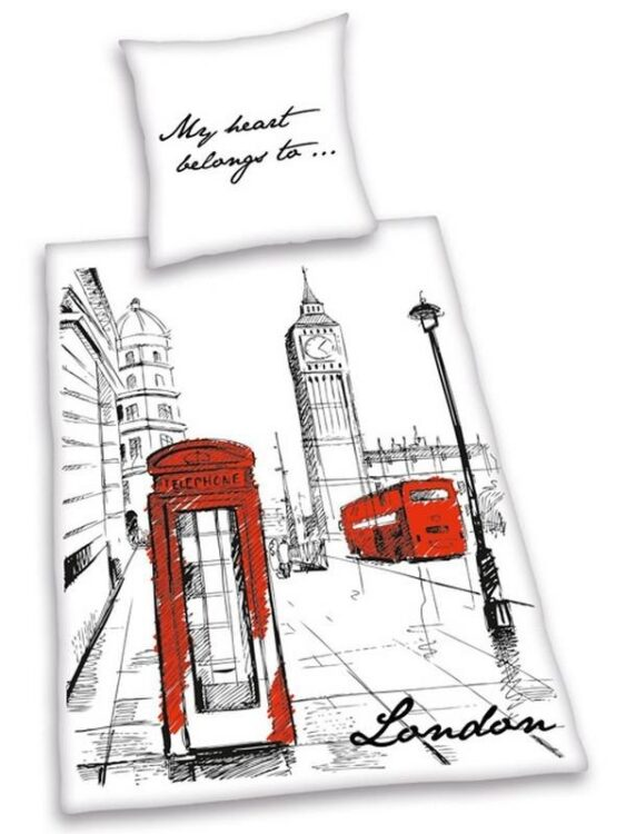 "Parure copripiumino singolo ""London Art"""