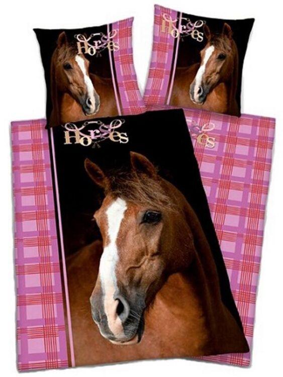 """Parure Copripiumino Singolo reversibile """"Brown Horse"""""""