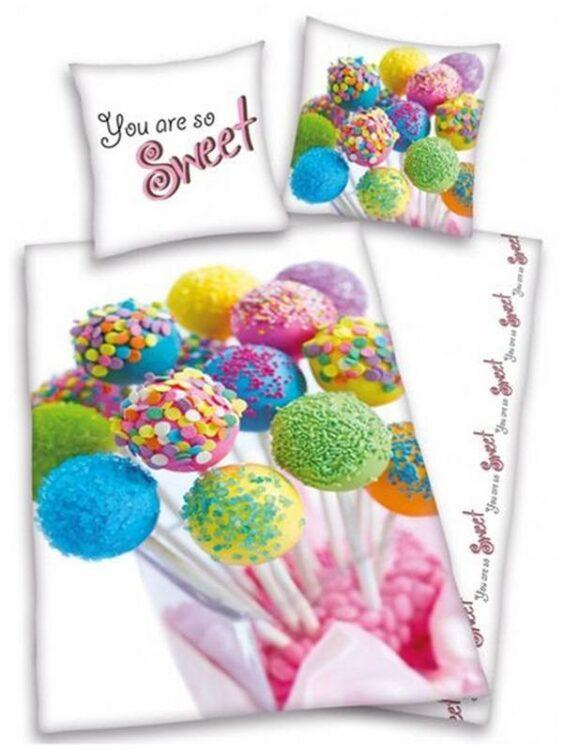"""Parure Copripiumino Singolo """"You are so sweet"""" Lollipop"""