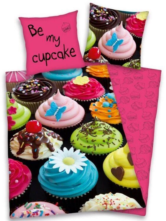 Parure copripiumino singolo reversibile Cupcake