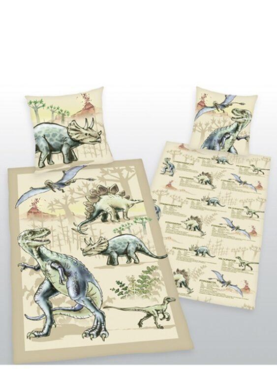 Parure Copripiumino Singola reversibile Dinosauri
