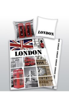 Parure Copripiumino Singola London Iconic