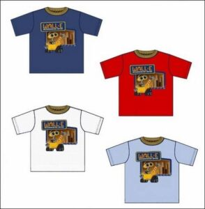 T-shirt mezza manica Wall-E