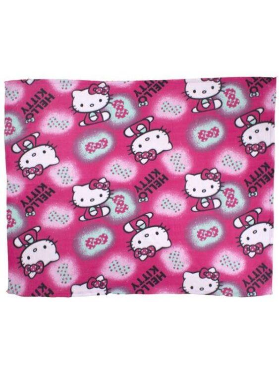 Plaid pile Hello Kitty Fiocchi
