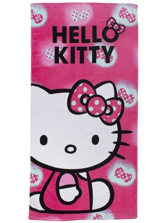Asciugamano Telo Mare Hello Kitty