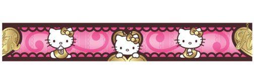 Bordo adesivo Hello Kitty Cuori Dorati