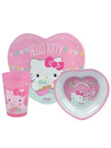 Set tavola 3 pezzi Hello Kitty