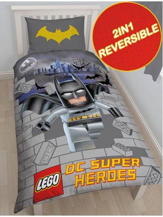 Parure copripiumino singola reversibile Lego DC Batman