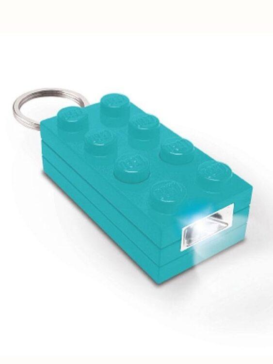 Portachiavi con luce Mattoncino Lego Azzurro