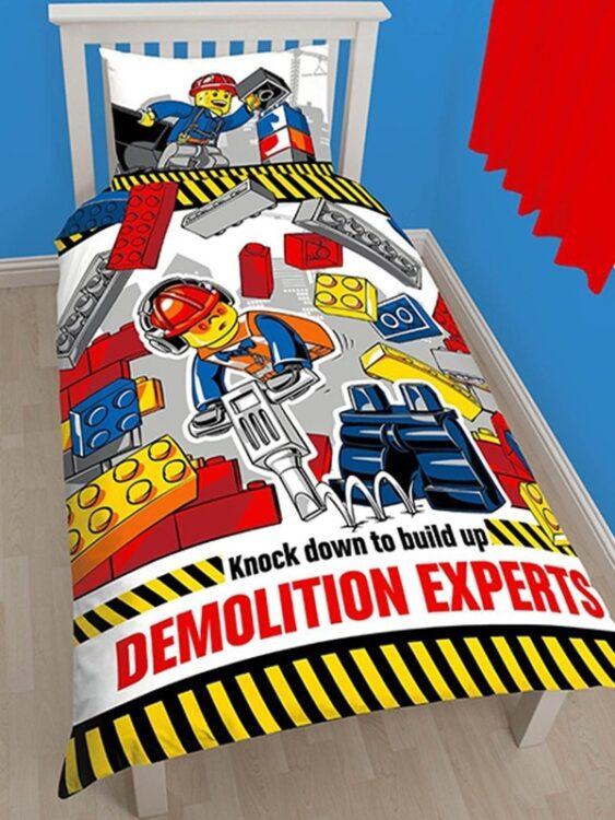 Lego City - Parure Copripiumino singolo double-face Demolition