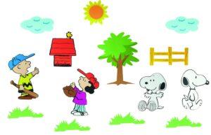 Adesivi Murali Snoopy 14 pezzi