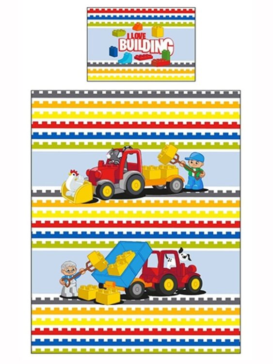 Lego Duplo - Parure Copripiumino lettino o Set Lettino 4 in 1