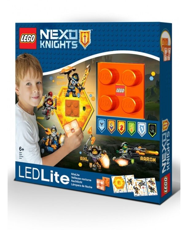 Luce da parete 3D a LED Lego Nexo Knights con adesivi