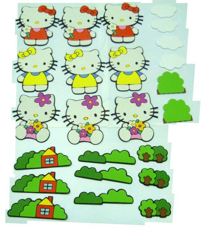Set 24 Stickers Hello Kitty