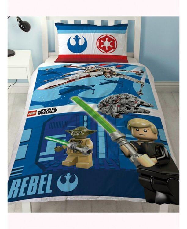Parure copripiumino letto singolo Lego Star Wars Reversibile 2 in 1