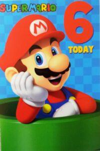 Biglietto Auguri XL Super Mario 6 anni