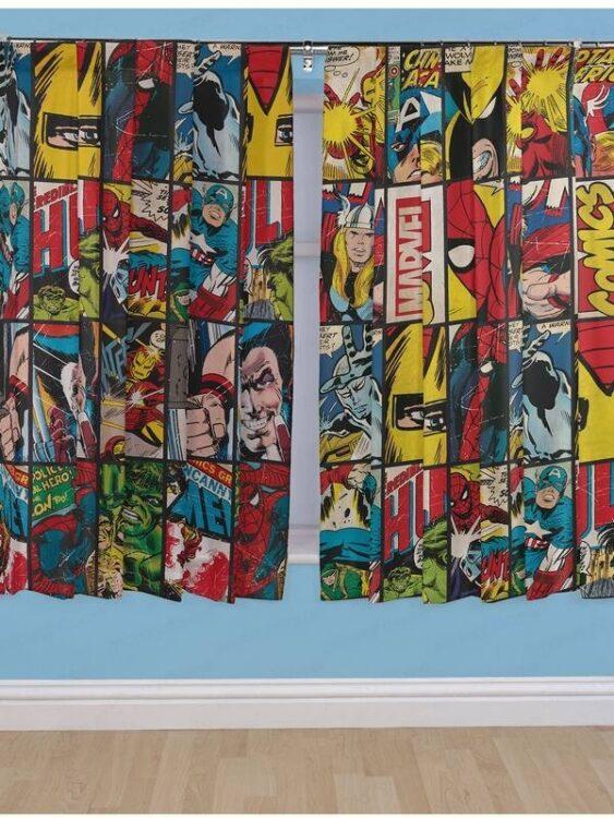 Tende per cameretta Marvel Comics 183cm