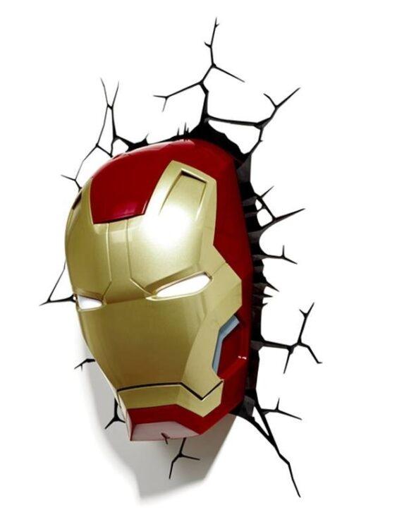 Luce da parete 3D a LED Iron Man