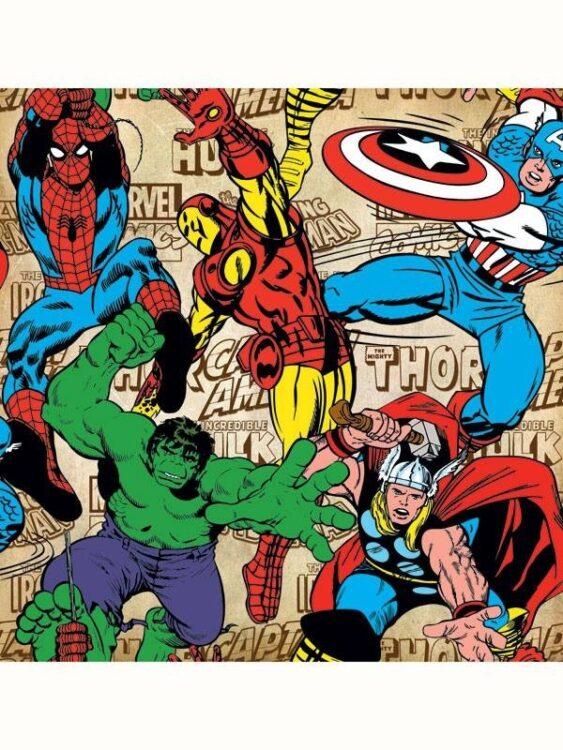 Carta da parati Marvel Comics Retrò 10mt