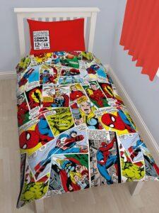 Parure copripiumino singolo Marvel Comics Justice