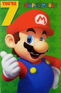 Biglietto Auguri XL Super Mario 7 anni