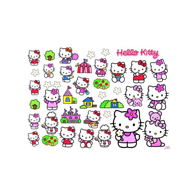 Adesivi da parete Hello Kitty 35 pezzi