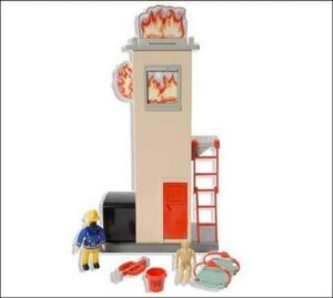 Playset Sam il Pompiere Torre incendiata
