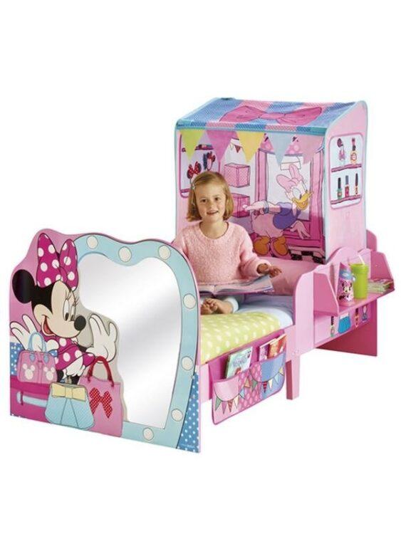 Lettino Minnie con tenda gioco