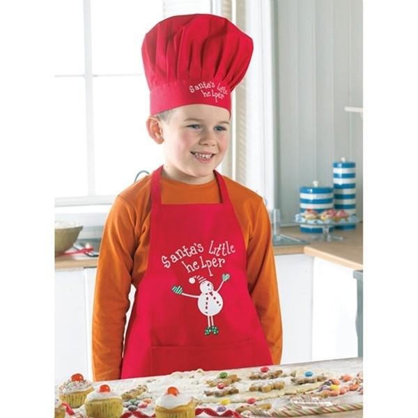 """Set cuoco """"piccolo aiutante di Babbo Natale"""" 2 pezzi"""
