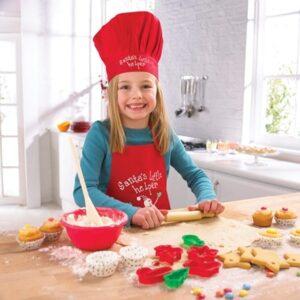 """Set cuoco """"piccolo aiutante di Babbo Natale"""" 12 pezzi"""