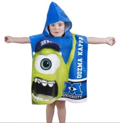 Accappatoio poncho con cappuccio Monsters University