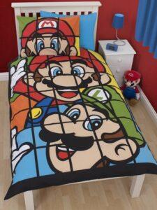 Parure copripiumino singolo reversibile Mario e Luigi Retrò