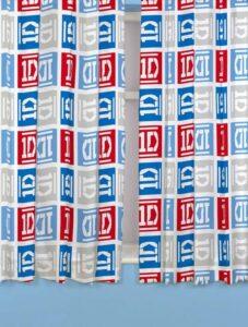 """Tende per cameretta One Direction """"Craze"""" 183cm"""