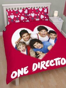 Parure copripiumino matrimoniale reversibile One Direction Loveable