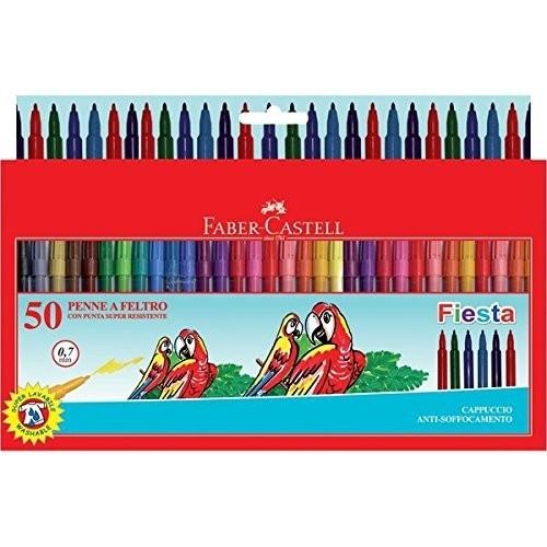 50 pennarelli Faber Castell assortiti