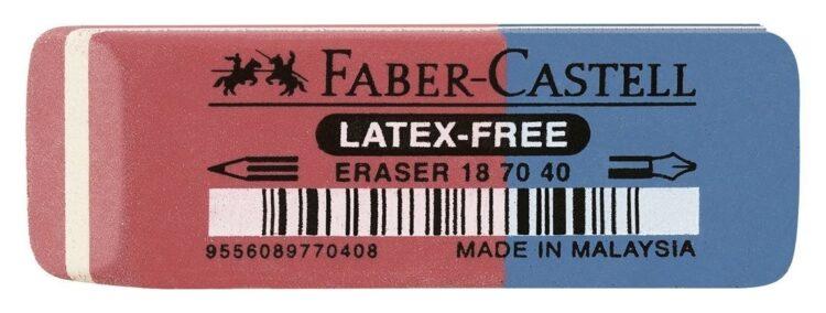Set 40 gomme Faber Castell Rossa-blu per Matita ed Inchiostro