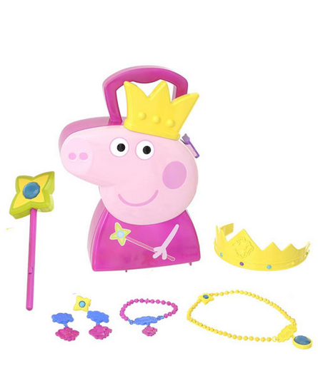 Set Gioielli Peppa Pig con custodia sagomata