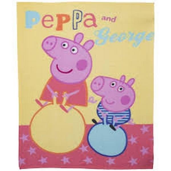 Plaid Pile Peppa Pig e George