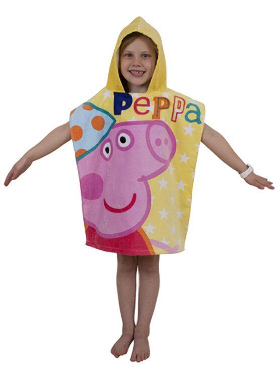 Accappatoio poncho con cappuccio Peppa Pig Funfair