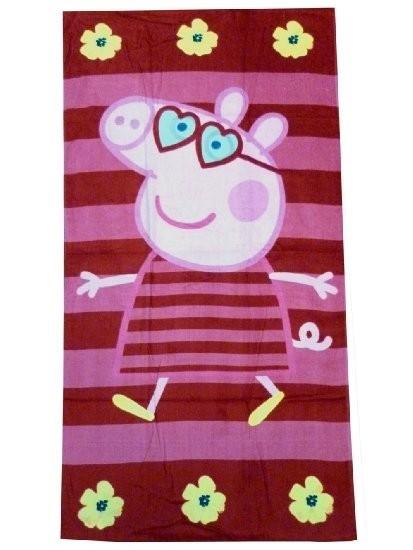 "Asciugamano telo mare Peppa Pig ""Stripes"""