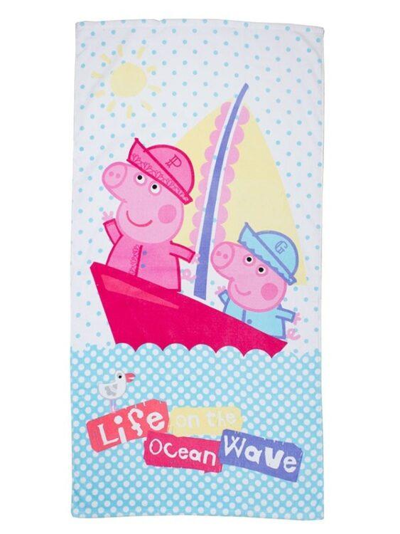 Asciugamano telo mare Peppa Pig e George Marinai