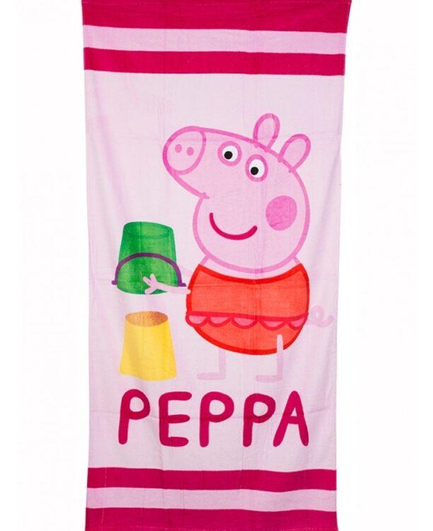 Asciugamano telo mare Peppa Pig Castello di Sabbia