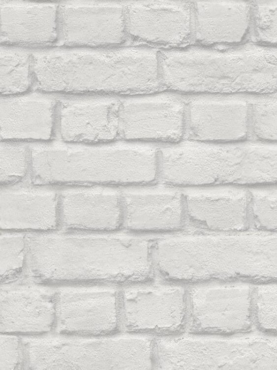 Carta da parati Mattoncini grigio chiaro 10mt