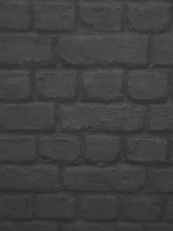 Carta da parati Mattoncini neri 10mt