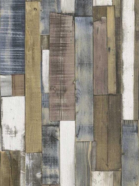 Carta da parati Tavole di legno naturale 10mt